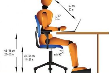 Chiều cao ghế văn phòng