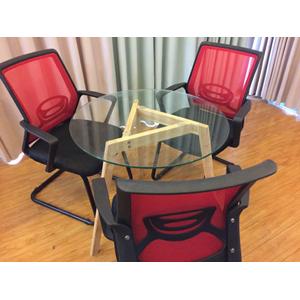 Bộ bàn tiếp khách kính 3 ghế SBK08